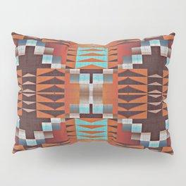Native American Indian Tribal Mosaic Rustic Cabin Pattern Pillow Sham