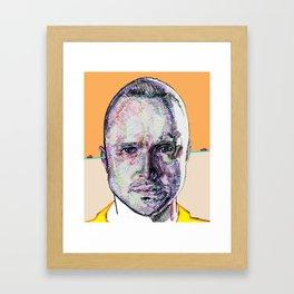 Jesse Pinkman (Beige) Framed Art Print