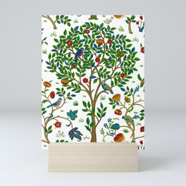 William Morris Tree of Life Pattern, Green & Multi Mini Art Print