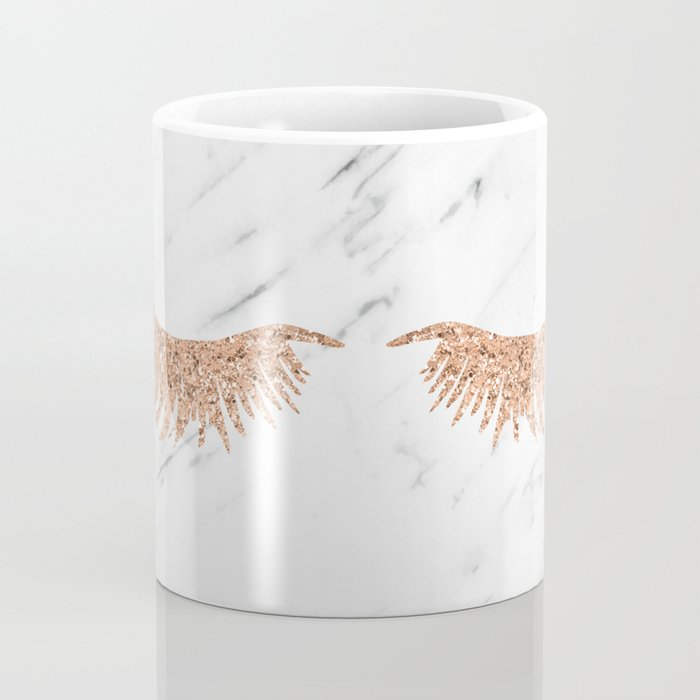 Rose gold marble lash envy Coffee Mug