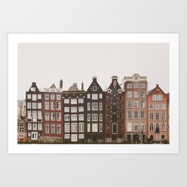 Amsterdam Crooked Row Art Print