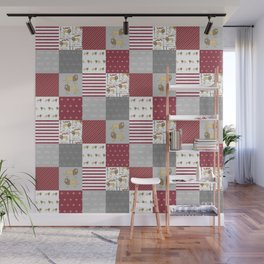 Lion House cheater quilt patchwork wizarding witches and wizards Wall Mural