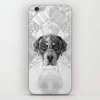 rottweiler iPhone & iPod Skins featuring Ornate Rottweiler by Adrian Dominguez