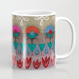 the rhyme of repetitive elements - fire, water, flower, air Coffee Mug