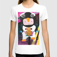 cycling T-shirts featuring Cycling penguin by Adriana Moran