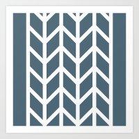 herringbone Art Prints featuring Herringbone by Sara Nolin