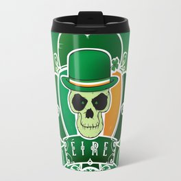 Lucky Irish  skull Travel Mug