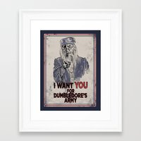 dumbledore Framed Art Prints featuring Uncle Dumbledore by spacemonkeydr
