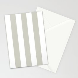 Pastel gray - solid color - white vertical lines pattern Stationery Cards