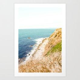 Travel photography Palos Verdes Ocean Cliffs Seascape Landscape III Art Print