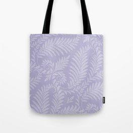 Purple Damask Fern Leaf Fancy Scroll Pattern Tote Bag
