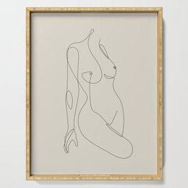 Single Nude - Beige Serving Tray
