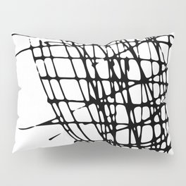 Sketch Black and White Pillow Sham
