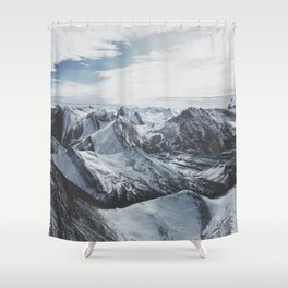 Snowy Mountains of Alberta Shower Curtain