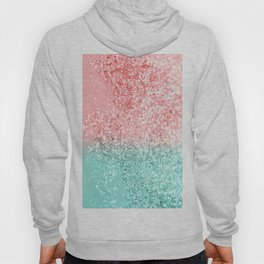 Summer Vibes Glitter #3 #coral #mint #shiny #decor #art #society6 Hoody