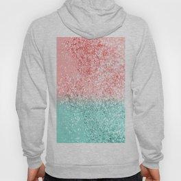 Summer Vibes Glitter #3 #coral #mint #shiny #decor #art #society6 Hoody