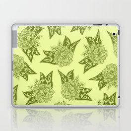 Cabbage Roses in Chartreuse Laptop & iPad Skin