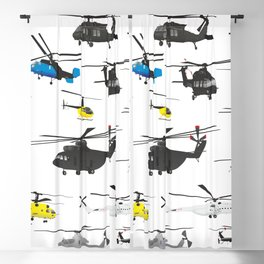 Multiple Helicopters Blackout Curtain