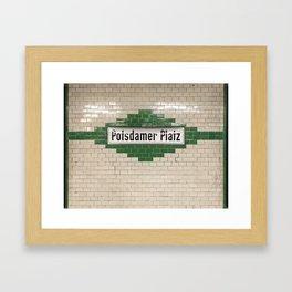 Berlin U-Bahn Memories - Potsdamer Platz Framed Art Print
