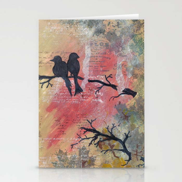 Together - Winter Birds Stationery Cards