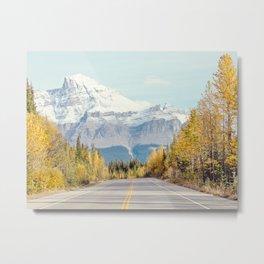 Autumn Mountain Road - Fall Landscape, Nature Photography Metal Print