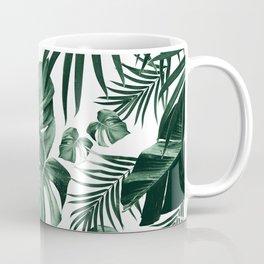 Tropical Jungle Leaves Pattern #4 (2020 Edition) #tropical #decor #art #society6 Coffee Mug