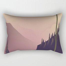 Woodland landscape. Rectangular Pillow