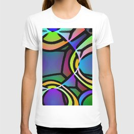 VERY BRIGHT COLORFUL ABSTRACT ARTWORK T-shirt