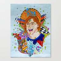 phish Canvas Prints featuring Trey's Mind by Nick Swann