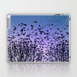 Blue sky birds freedom flight Laptop & iPad Skin
