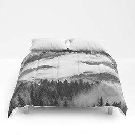 Misty Mountain II B&W Comforters