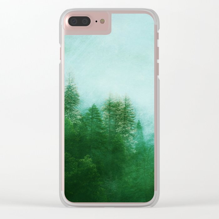 Dreamy Spring Forest Clear iPhone Case