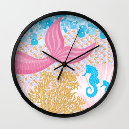 Living a Life as a Mermaid Wall Clock