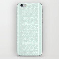 Mudcloth in mint iPhone & iPod Skin