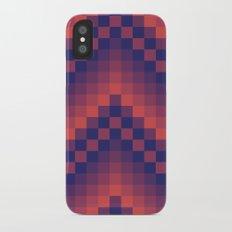 Pixelated Chevron iPhone X Slim Case