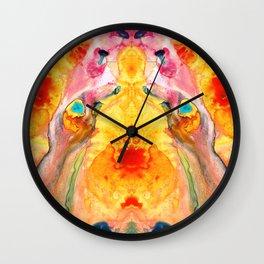 Mother Nature - Abstract Goddess Art By Sharon Cummings Wall Clock