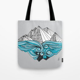 In the Shadow of the Glacier Tote Bag