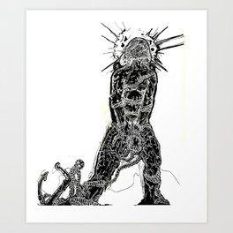 Anchored/Crawling Ain't My Style Art Print