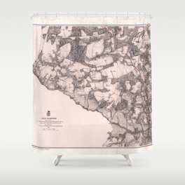 Map of Cold Harbor, Virginia (June 1-3, 1864) Shower Curtain
