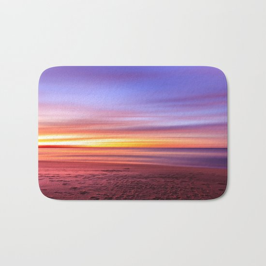 Colour sky beach Bath Mat