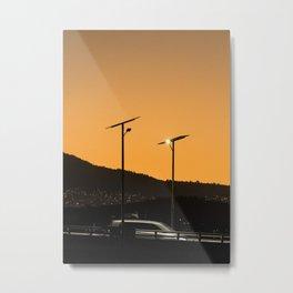 Highway Sunset Metal Print