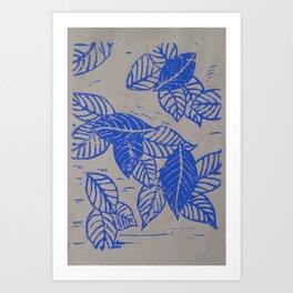 Leaves Linocut Art Print