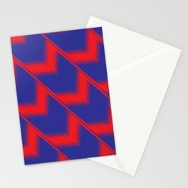 Red and blue diagonal pattern Stationery Cards