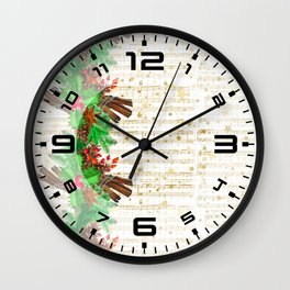 Christmas pine cones #3 Wall Clock