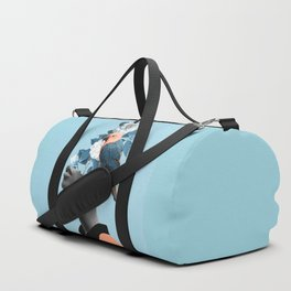Girl with parrot Duffle Bag
