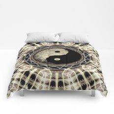 Yin Yang Geometry Mandala V1 Comforters