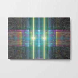 Electromagnetic Pulse Metal Print