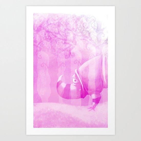 Ghostly Rhino Art Print