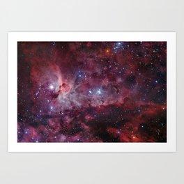 Carina Nebula of the Milky Way Galaxy Art Print