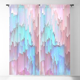 Pastel Glitches Fall Blackout Curtain